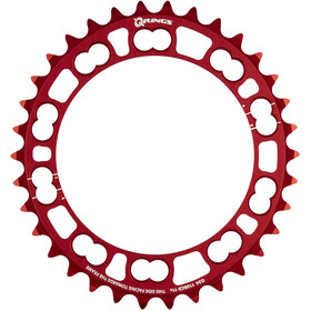 Rotor Q-Ring Road Kettenblatt 110mm 5-Arm innen rot